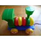 Směr Ťahacia hračka lokomotíva skladacia