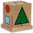MIK Drevená skladacia kocka geometria, 20ks