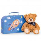 Teddy Hermann Plyšový medvedík Ferdi v kufríku, 26cm
