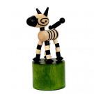 DETOA Drevená mačkacia hračka Zebra Mini