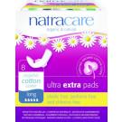 Natracare Bio bavlnené menštruačné vložky Ultra Extra Long, 8ks