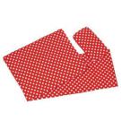 Goki Vankúšik + prikrývka + matrac do postieľky červená s bodkami