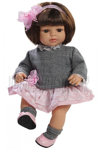 Berjuan Soft Doll Laura brunette, 40cm