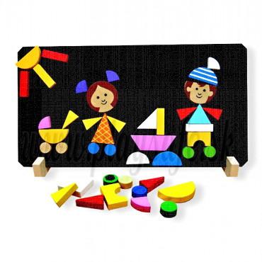 DETOA Wooden Magnetic puzzle Children
