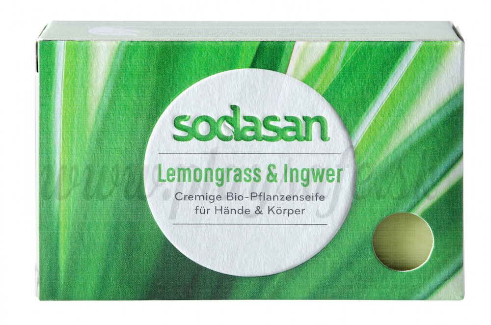 Sodasan Organic Lemongrass Cream Soap, 100g