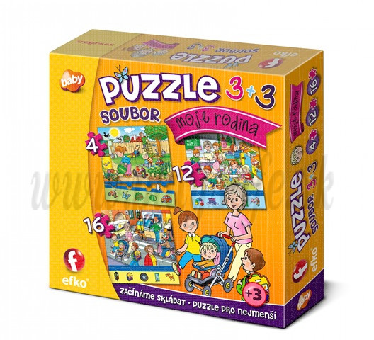 Efko Puzzle 3in1 My Family