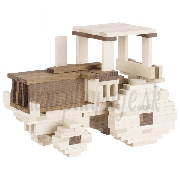 Goki Wooden Building Bricks Nature two colored, 200 pieces