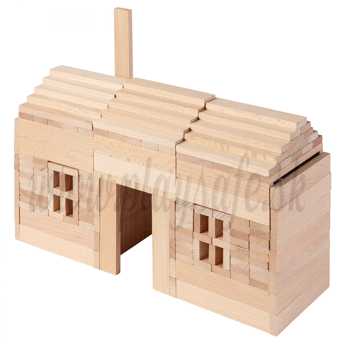 Goki Wooden Building Bricks Nature, 200 pieces