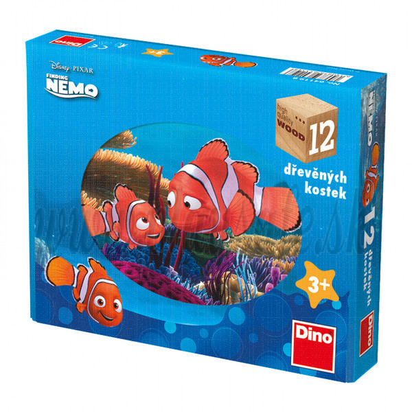 Dino Wooden Picture Blocks Disney's Nemo, 12 cubes