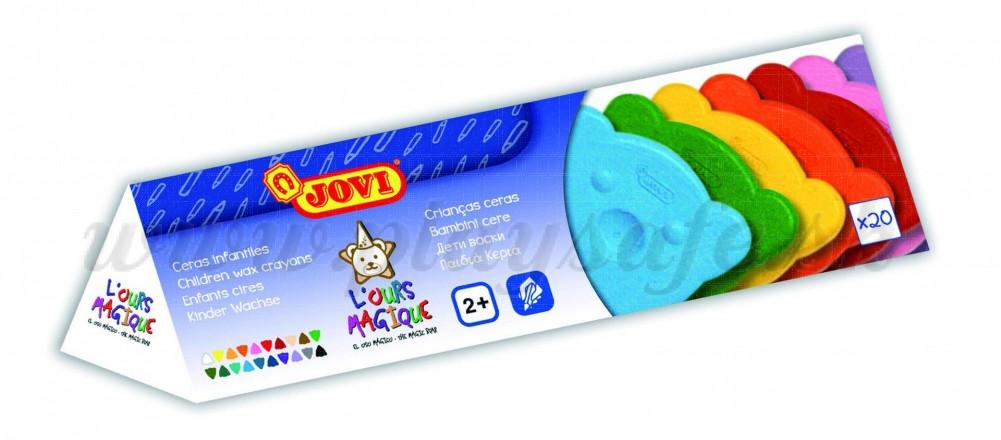JOVI® Bear Wax Crayons, 20 pieces