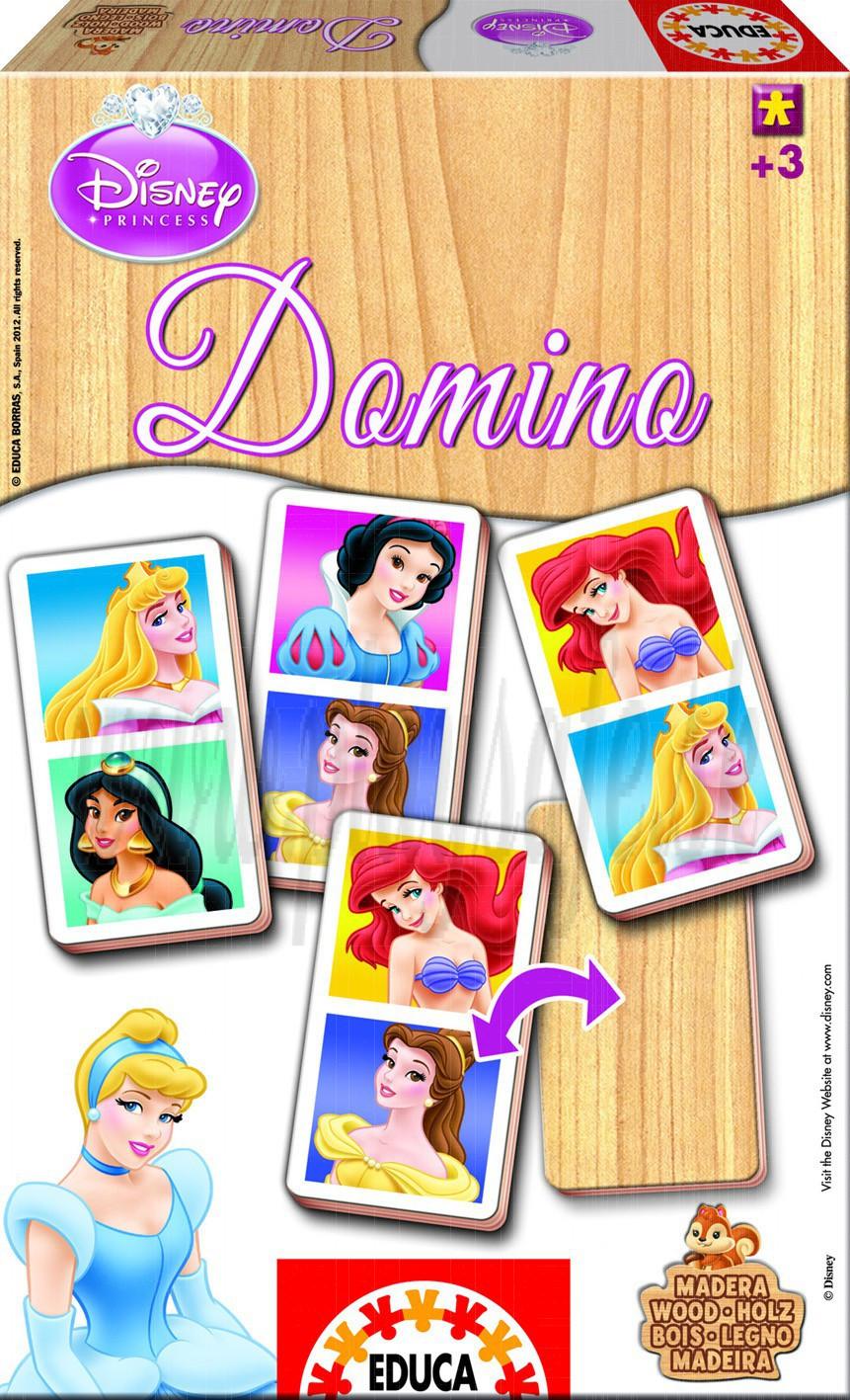 EDUCA Wooden Domino Princess, 21pieces
