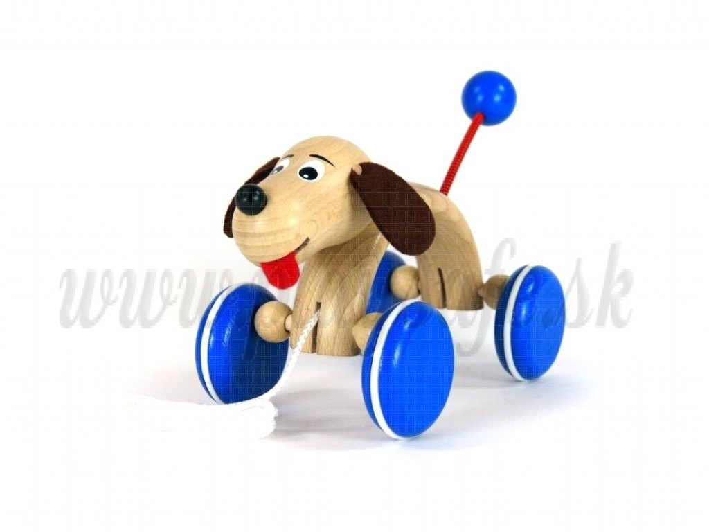 Greenkid Wooden Pull Along Toy Dog Max