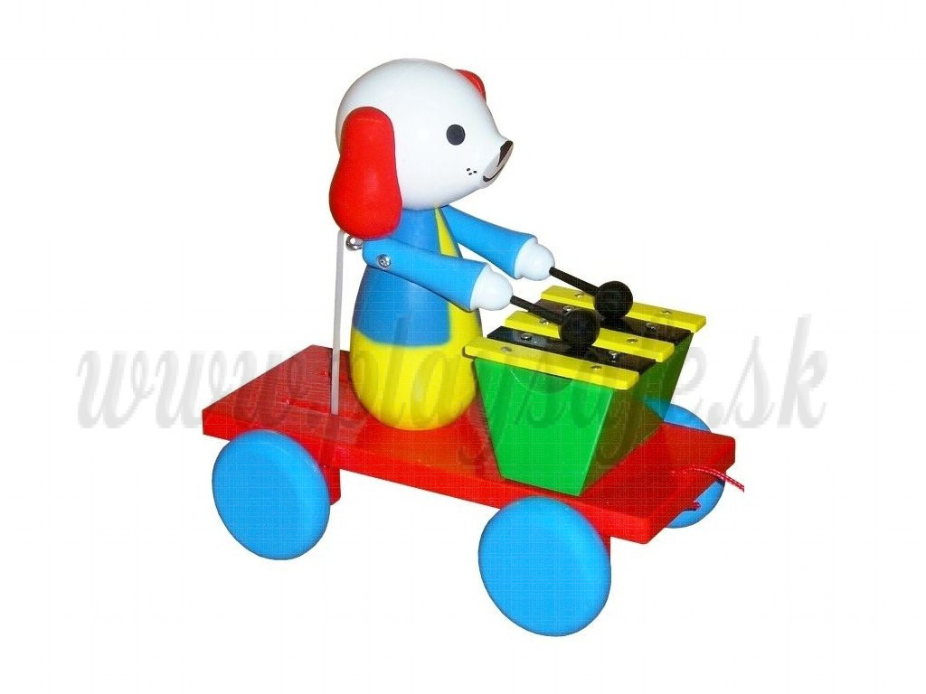 MIVA Vacov Pull Along Toy With Xylophone Dog
