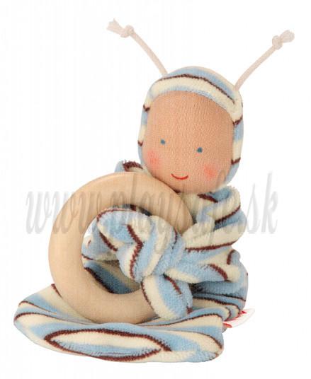 Käthe Kruse Rainbowbaby organic cotton Nicky babyblue, 16cm