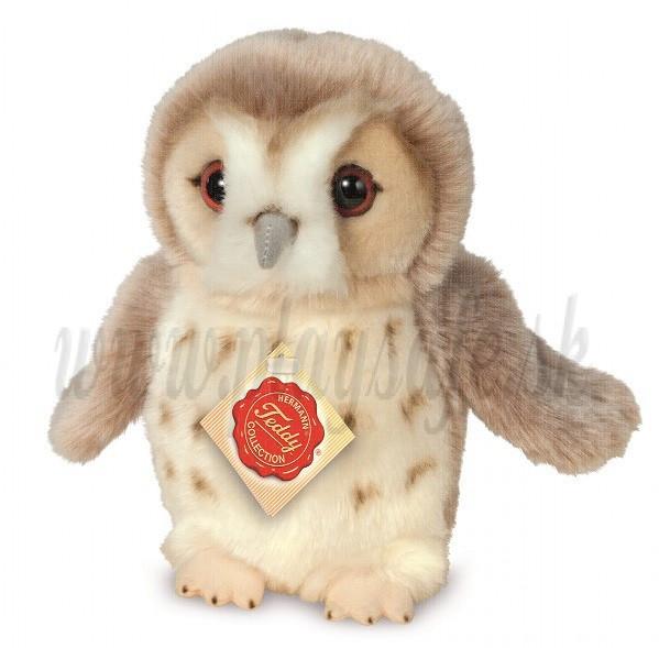 Teddy Hermann Soft toy Owl, 20cm beige