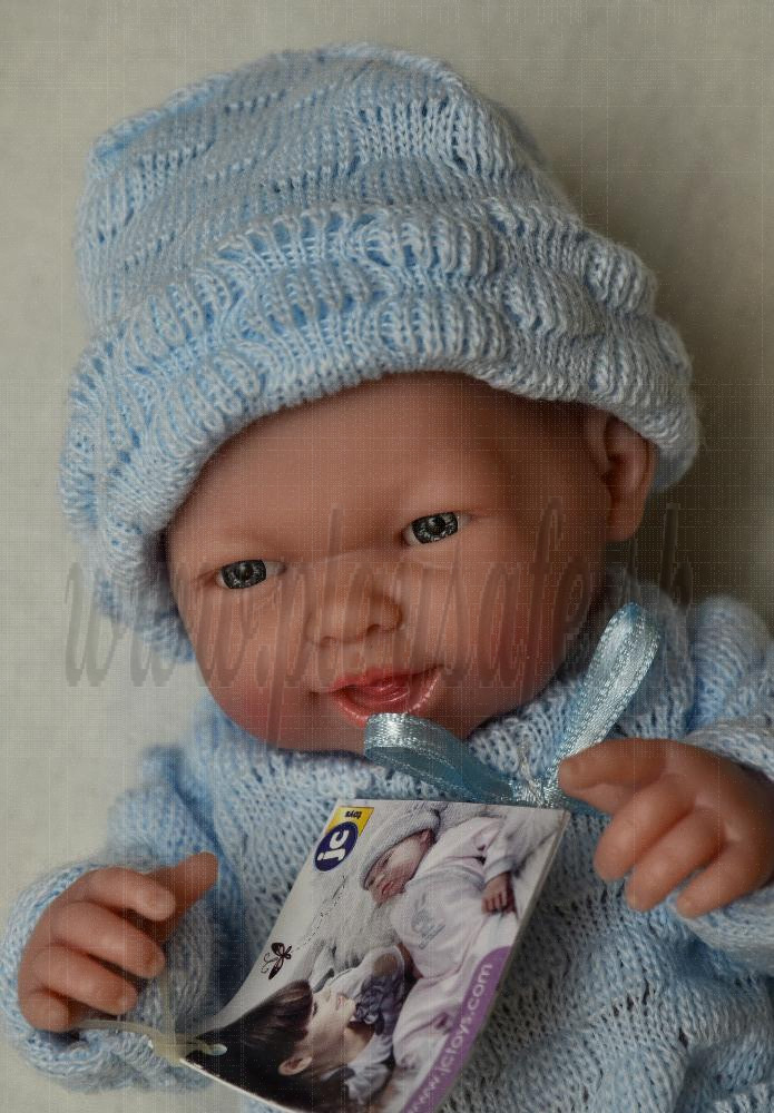 Berenguer Baby Boy Doll, 24cm in blue