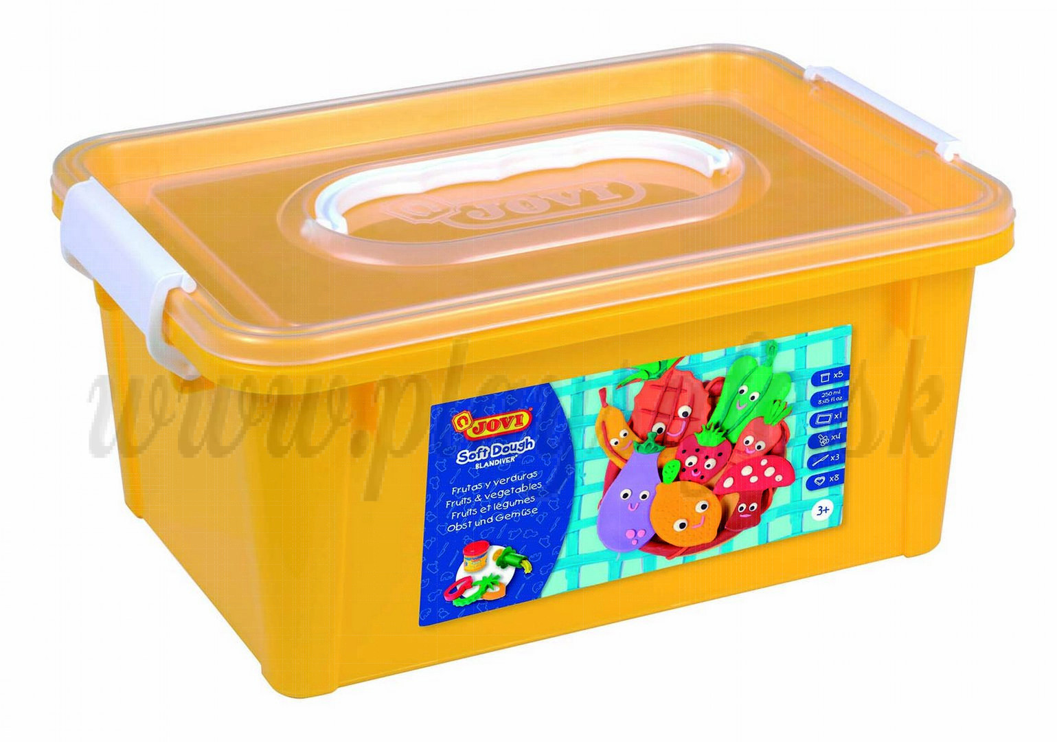 JOVI® Blandiver Soft Modelling Dough Set Fruits And Vegetables, box