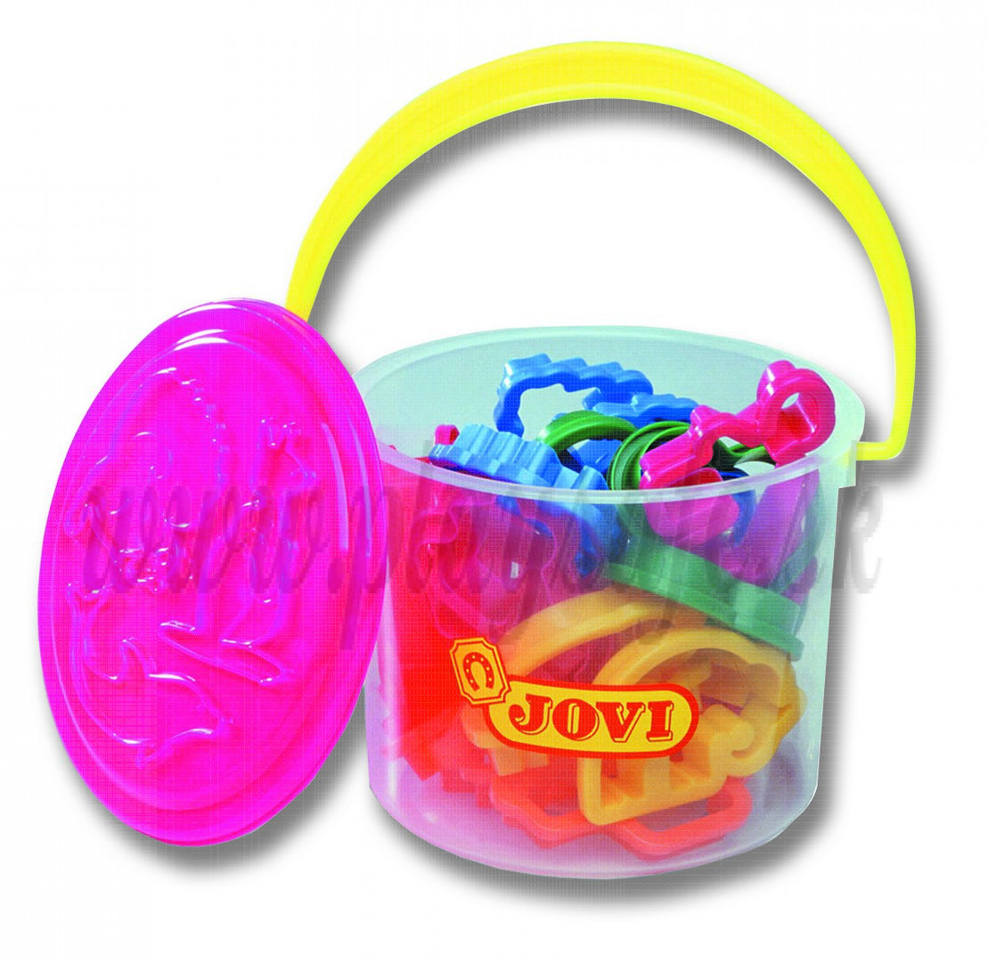 JOVI® Clay Cutters Bucket, 24 pieces assorted