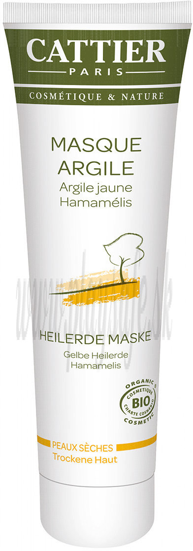 Cattier Paris Yellow Clay Mask For Dry Skin, 100ml