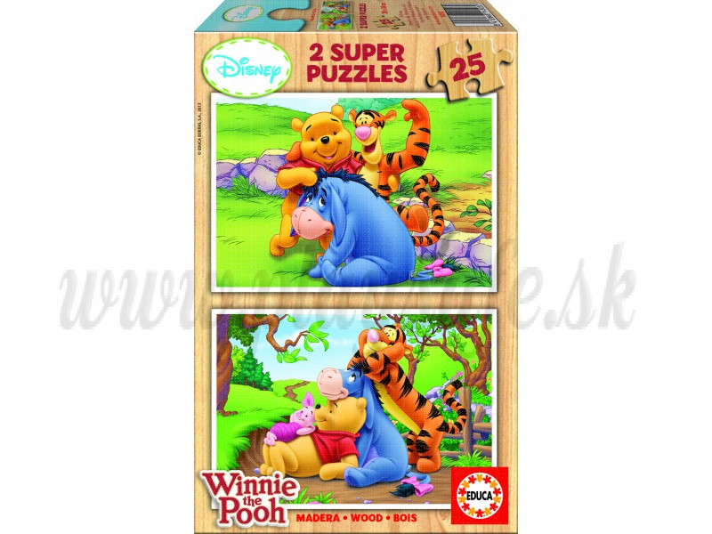 EDUCA 2x25 Wooden Puzzle Winnie The Pooh