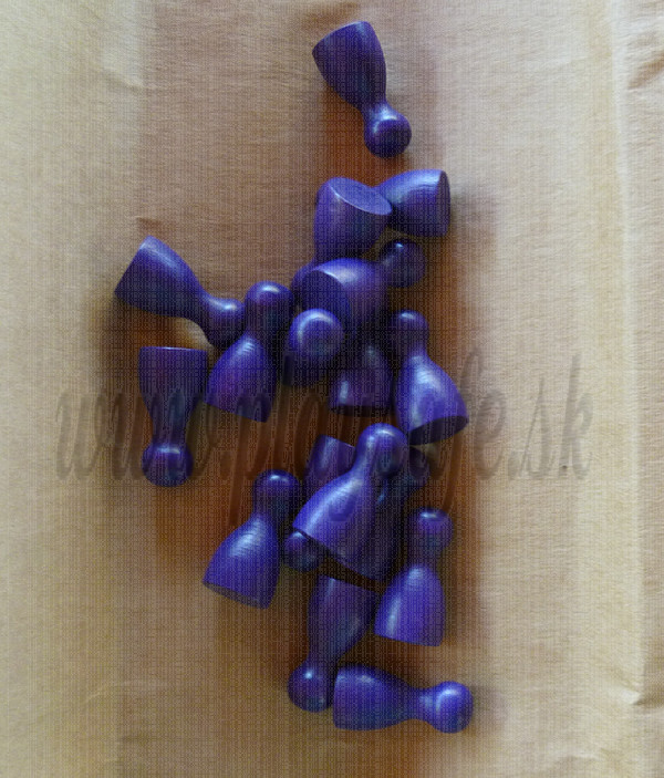 DETOA Wooden Pawns purple, 1pc