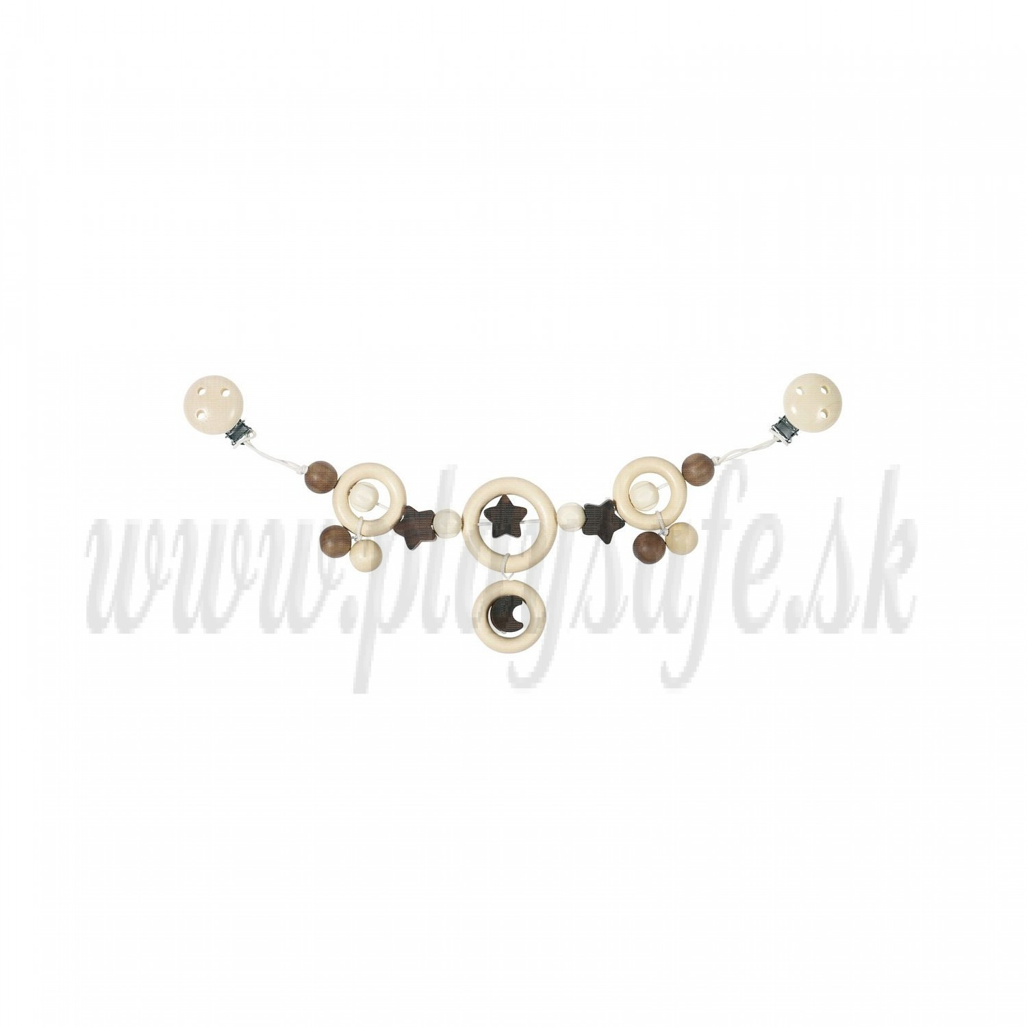 Heimess Pram Chain With Clips Moon and Stars, 40cm