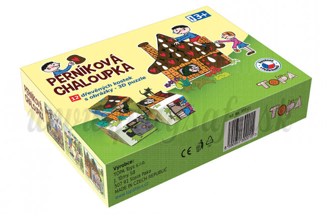 TOPA Wooden Picture Blocks Hansel and Gretel, 12 cubes