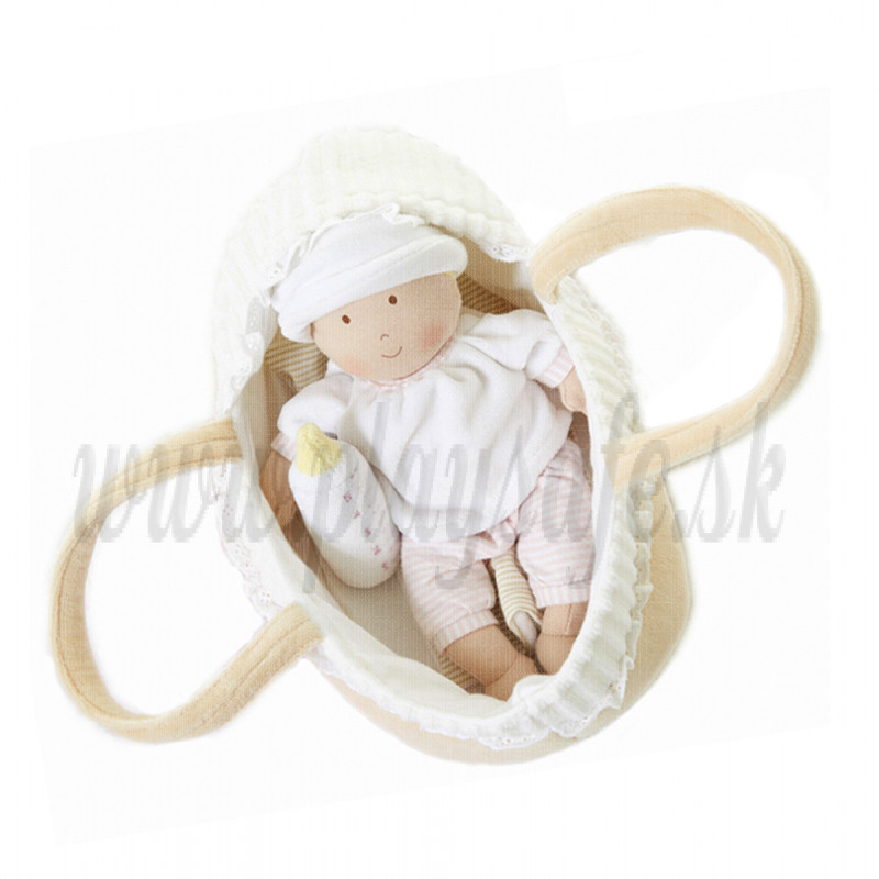 Bonikka Baby Doll with Carry Cot & Blanket, 23cm