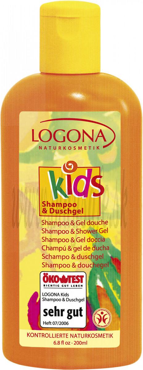 Logona Kids Shampoo & Shower Gel, 200ml