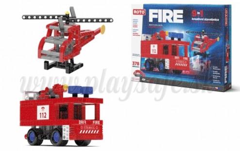 Efko ROTO Construction Set Maxi Fire 9in1, 377 pieces