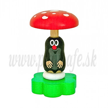 DETOA Wooden Rattle Mole With Mushroom