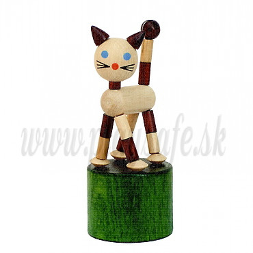 DETOA Wooden Push Up Toy Mini Cat