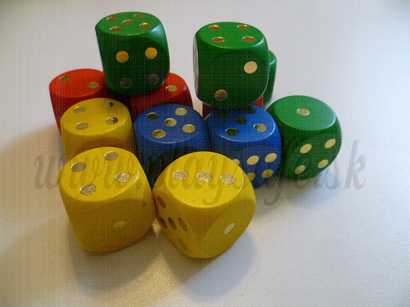 DETOA Wooden dices 25mm, 1pc