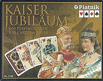 Piatnik Playing Cards Imperial Kaiser Double Deck