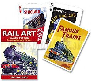 Piatnik Playing Cards Rail Art Single Deck
