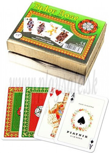 Piatnik Playing Cards Tudor Rose Double Deck