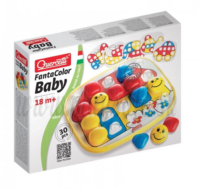 Quercetti 4405 Fantacolor Baby Basic, 30 pieces