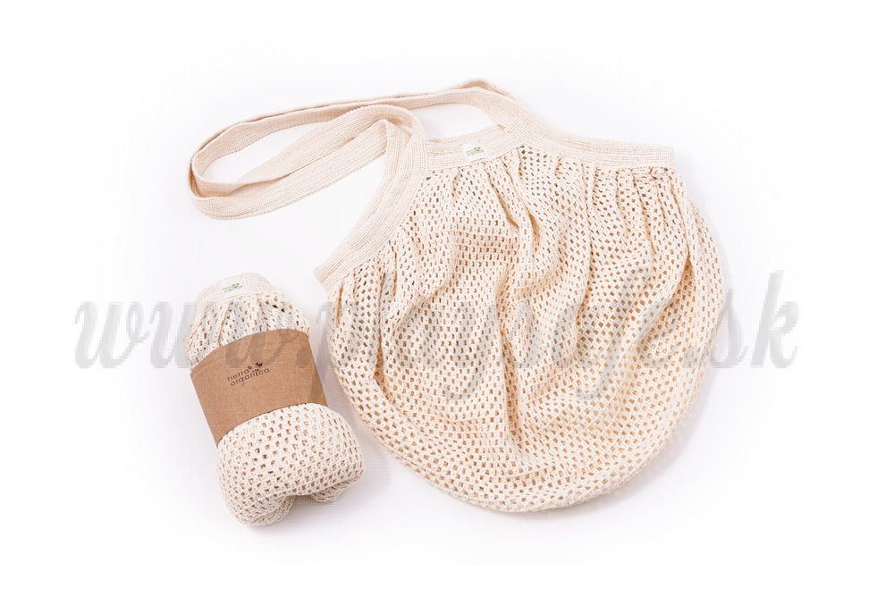 Tierra Verde String Bag from organic cotton thick, natural