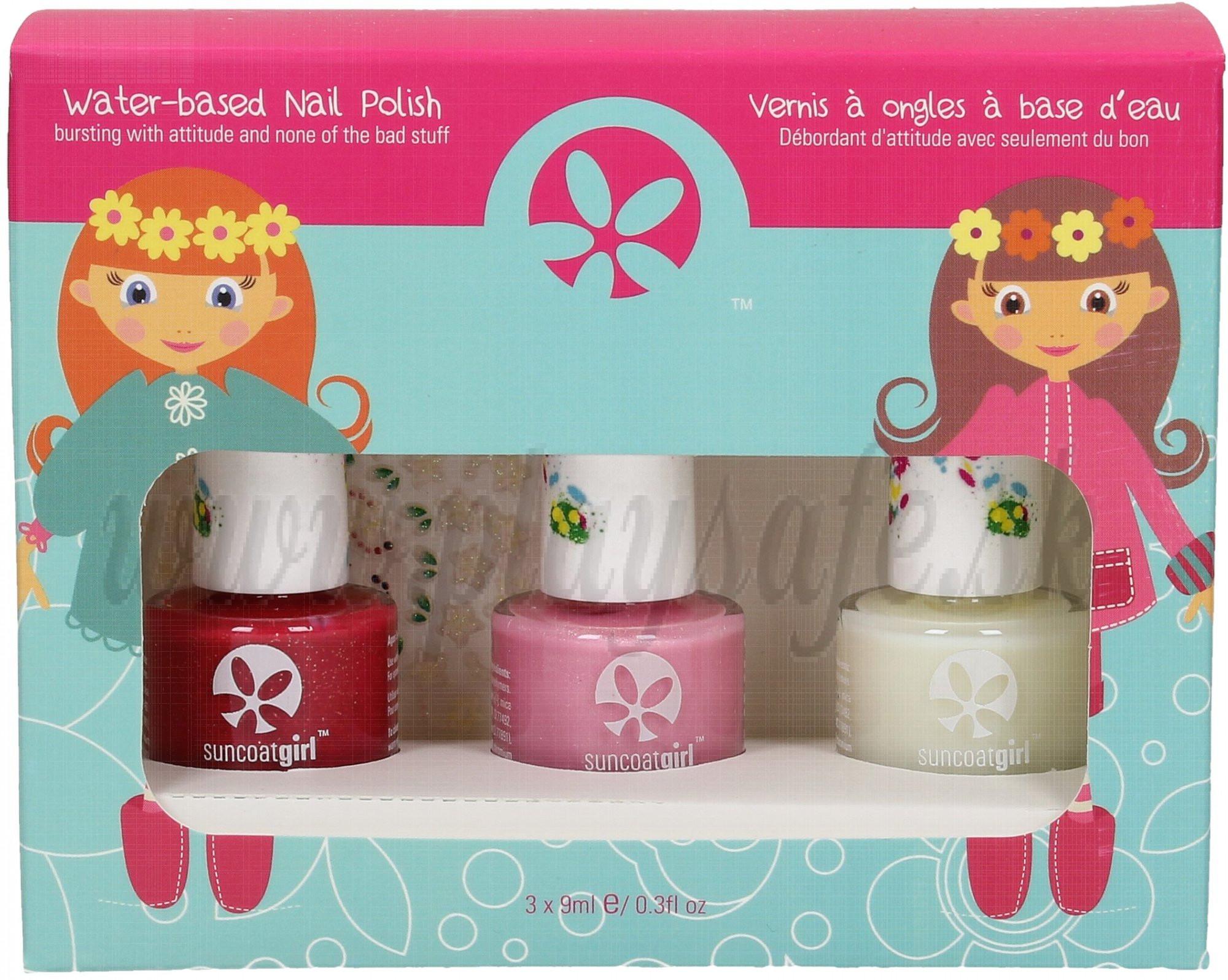 SuncoatGirl Trio Nail Beauty Kit Ballerina Beauty, 3x8ml