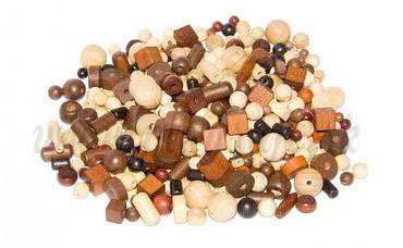 DETOA Wooden Bead Set Natural, 100g