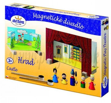 DETOA Wooden Magnetic Theatre Castle