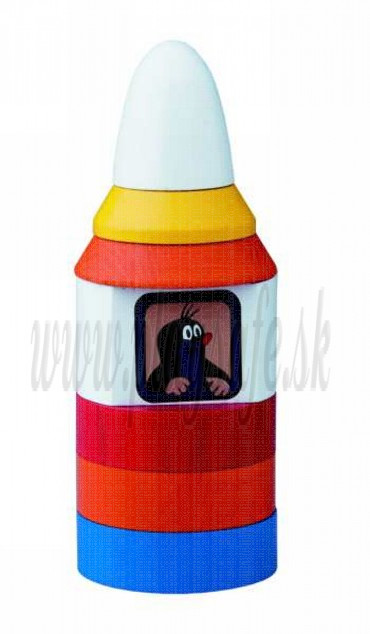 DETOA Wooden Stacking Toy Mole in Space Shuttle