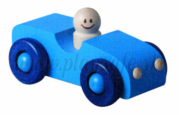 DETOA Wooden Car blue