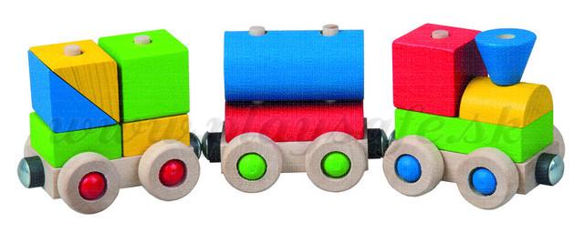 DETOA Wooden Train Take Apart Toy
