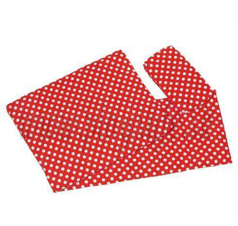 Goki Bedding Set For Dolls, Red With Dots