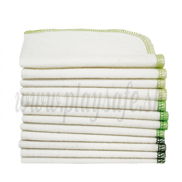 Imse Vimse Cloth Wipes organic cotton, 12 pieces forest