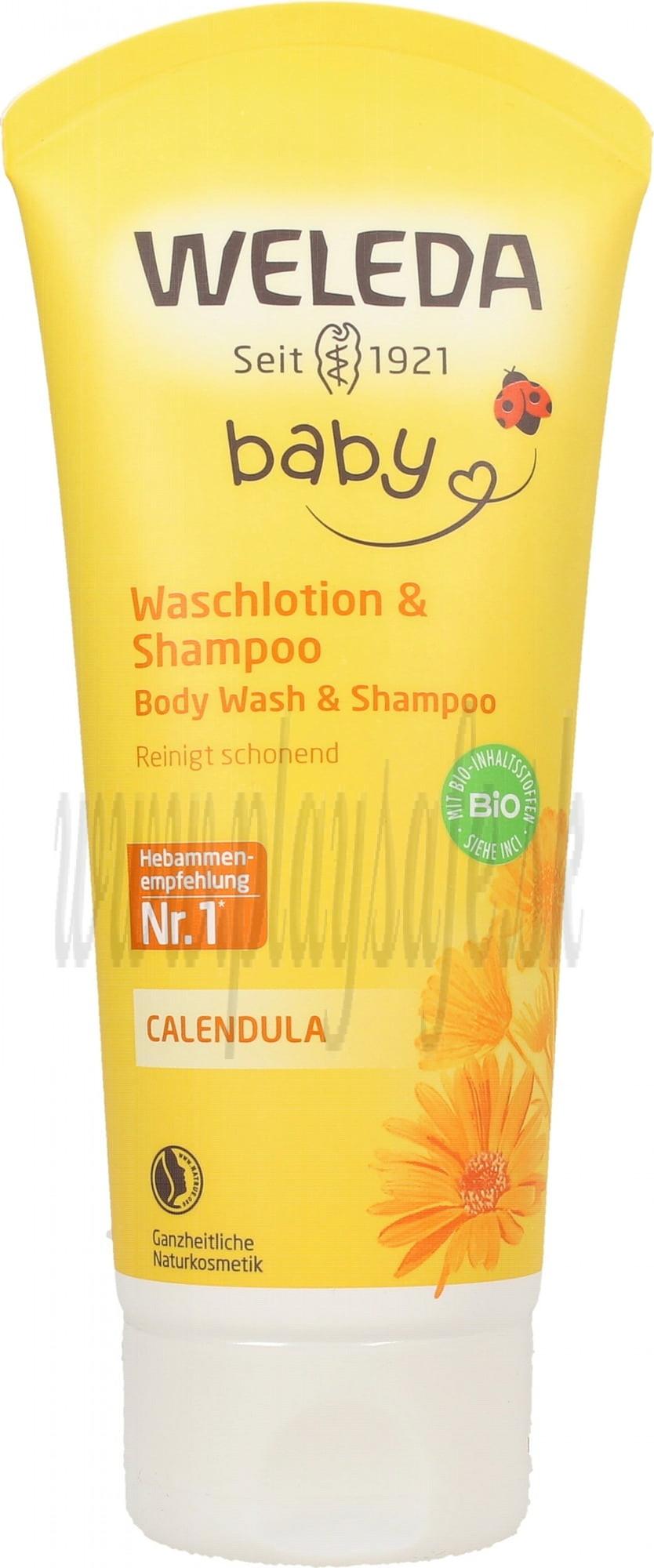Weleda Calendula Body Wash & Shampoo, 200ml