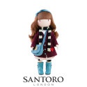 Santoro London Gorjuss Doll Little Foxes, 32cm