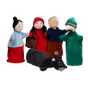 Noe Hand Puppets Set Little Red Riding Hood, 6 pieces