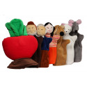 Noe Hand Puppets Set The Great Big Turnip, 7 pieces